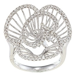 Victoria Kay 14k White Gold 7/8ct TDW Diamond Flower Ring (H-I, SI1-SI2)