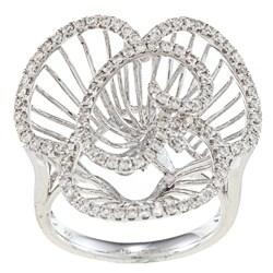 Victoria Kay 14k White Gold 7/8ct TDW Diamond Flower Ring