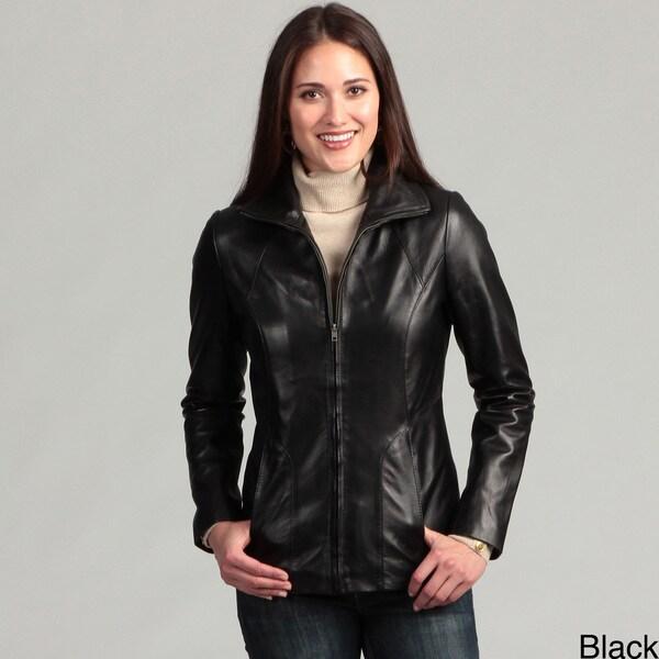 Collezione Women's Plus Italia Leather Jacket