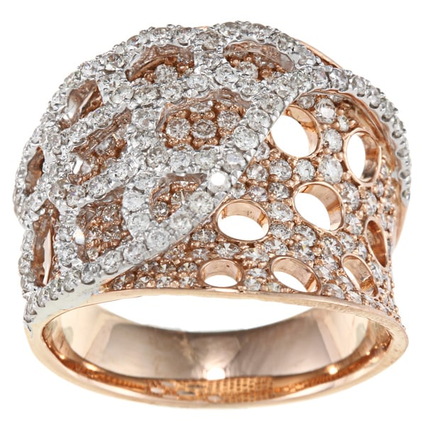 18k Two-tone Gold 2 1/5ct TDW Diamond Band (H-I, SI1)