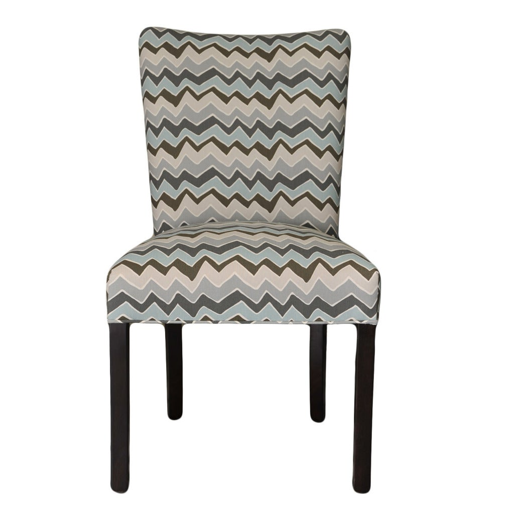 Denton Zigzag Wingback Chairs (Set of 2)
