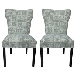 melrose chain wingback chairs set of 2
