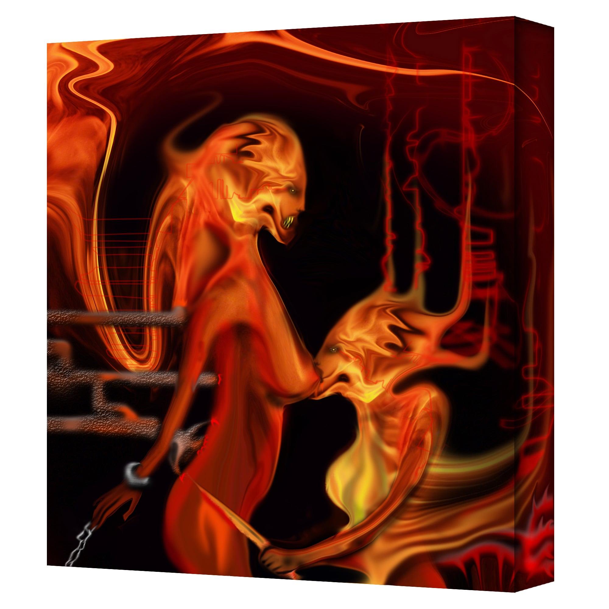 Michael L Stewart 'Parasite' Gallery Wrapped Canvas Art (24 x 24)