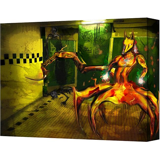 Michael L Stewart 'Jackal' Gallery Wrapped Canvas Art (18 x 24)