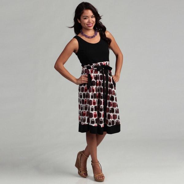Women's Black Owl Dress