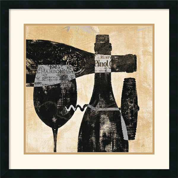 Framed Art Print 'Wine Selection I' by Daphne Brissonnet 25 x 25-inch