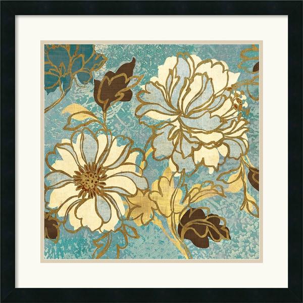 Wild Apple 'Sophias Flowers I Blue' 25 x 25-inch Framed Art Print