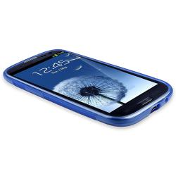 INSTEN Blue S Shape TPU Rubber Skin Case Cover for Samsung Galaxy S III i9300 - Thumbnail 1