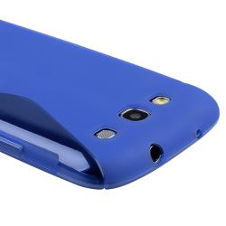 INSTEN Blue S Shape TPU Rubber Skin Case Cover for Samsung Galaxy S III i9300 - Thumbnail 2