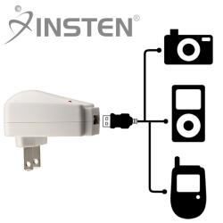 INSTEN Universal USB Travel Charger Adapter for Apple iPhone 4/ 4S/5/ 5S/ 6 - Thumbnail 1