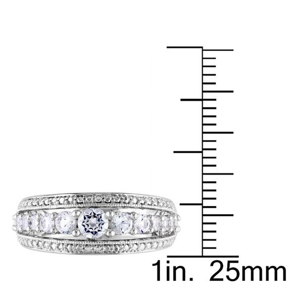 Miadora Sterling Silver 1ct TGW Gemstone Fashion Ring