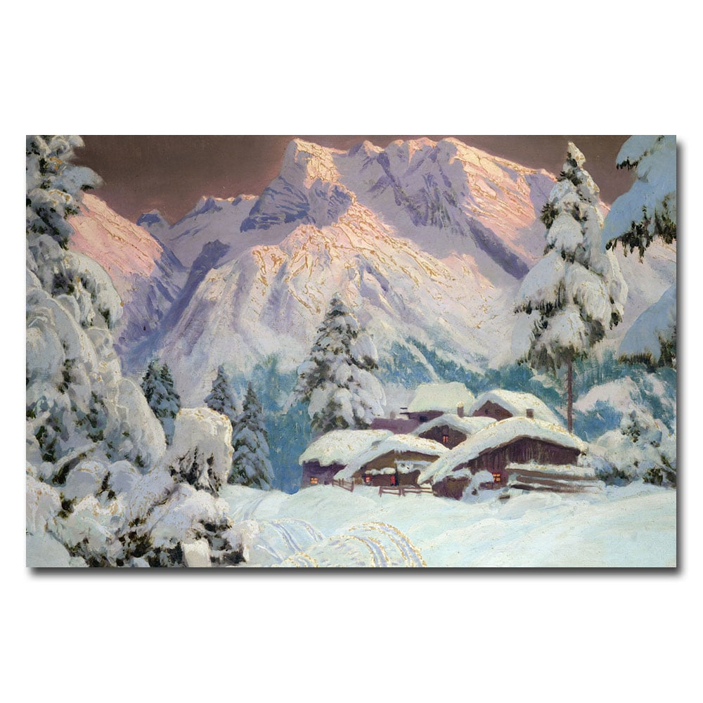 Alwin Arnegger 'Hocheisgruppe Austria' Canvas Art