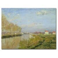 Claude Monet 'The Seine at Argenteuil 1873' Canvas Art