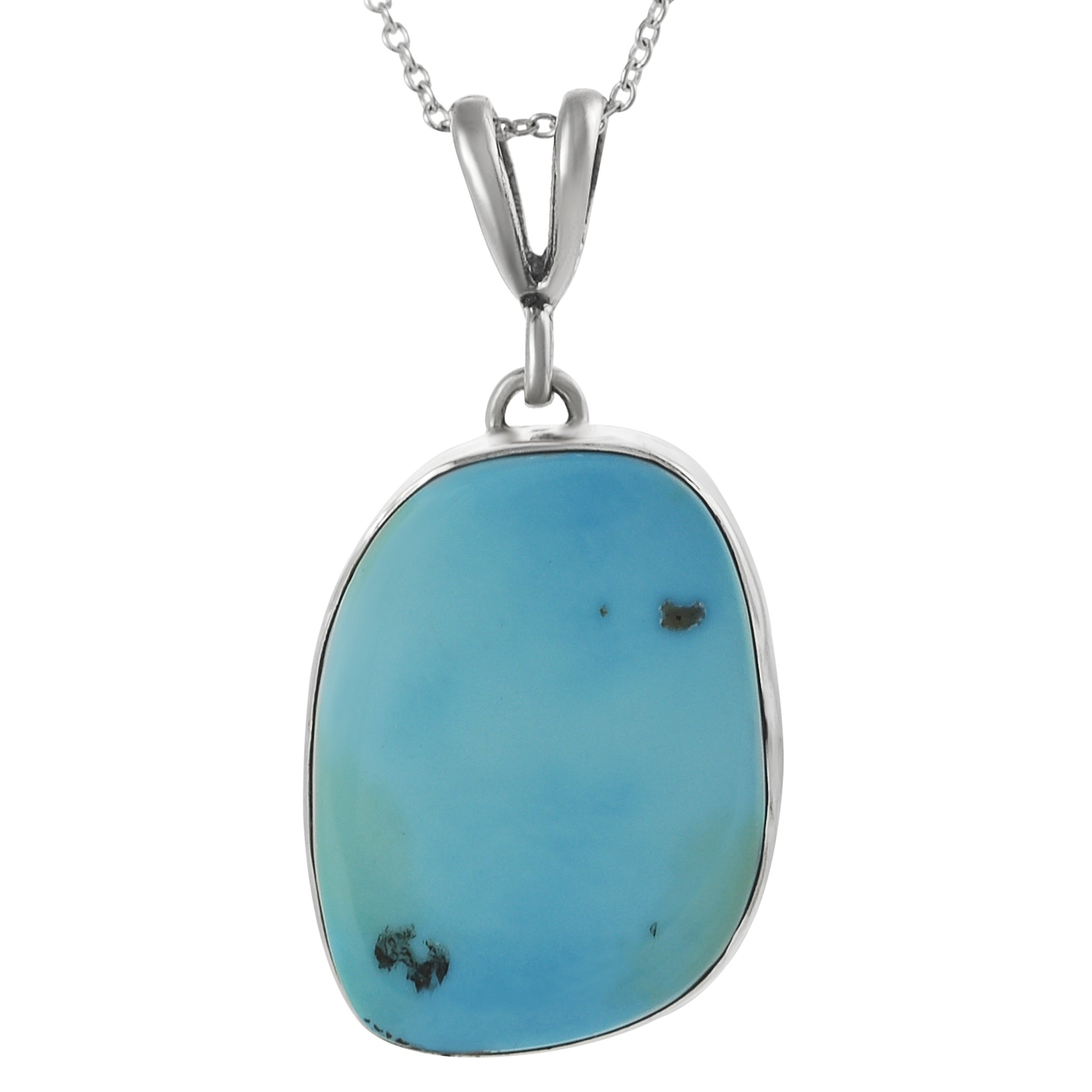 Journee Sterling Silver Genuine Turquoise Necklace
