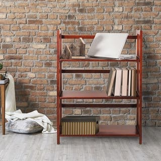 Folding Stackable 27.5-inch Bookcase|https://ak1.ostkcdn.com/images/products/6842407/P14369113.jpg?impolicy=medium