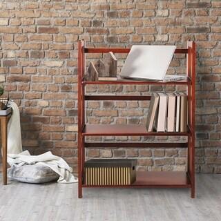Porch & Den Longfellow Edgemont Folding Stackable 27.5-inch Bookcase (Option: Honey Finish)