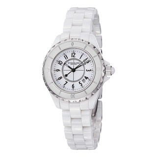 Stuhrling Original Women's Glamor Ceramic Watch with Stainless Steel Bracelet (3 options available)