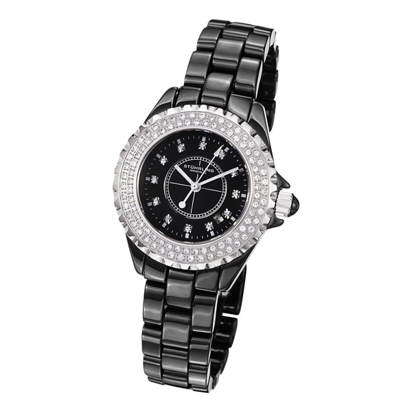 Stuhrling Original Women's Glamor 2 Ceramic Bracelet Watch
