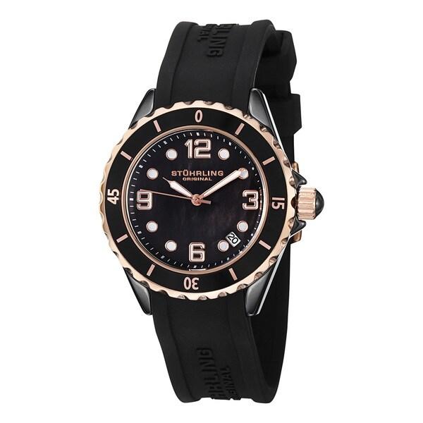 Stuhrling Original Women's Black Ceramic Watch
