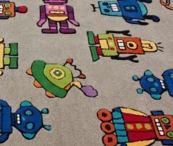 nuLOOM Handmade Kids Robots Grey Wool Rug (5' x 7')