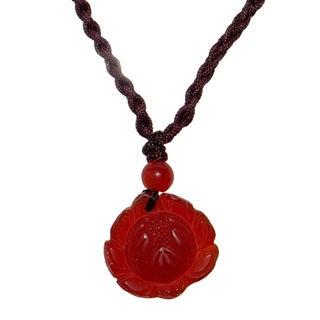 Lotus Agate Pendant with Necklace (China)