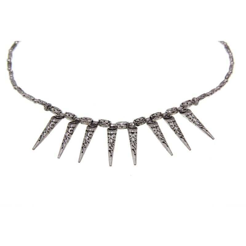 Tibetan Silver Teeth Design Necklace (China)