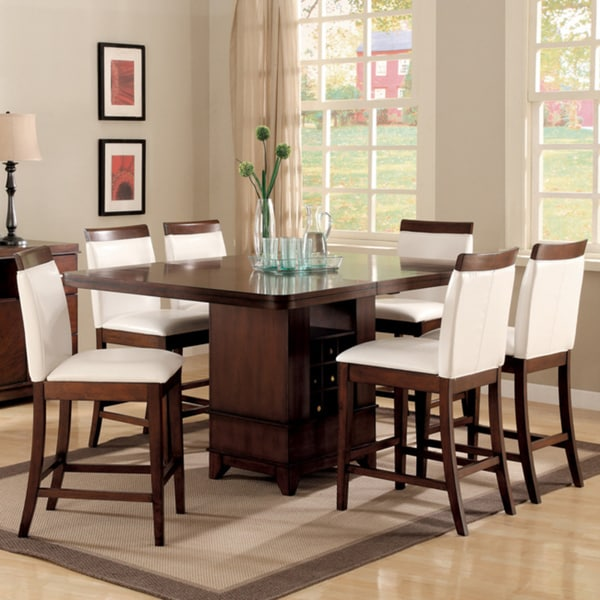 TRIBECCA HOME Lancester 7-piece Dining Set with Wood Rail Chairs