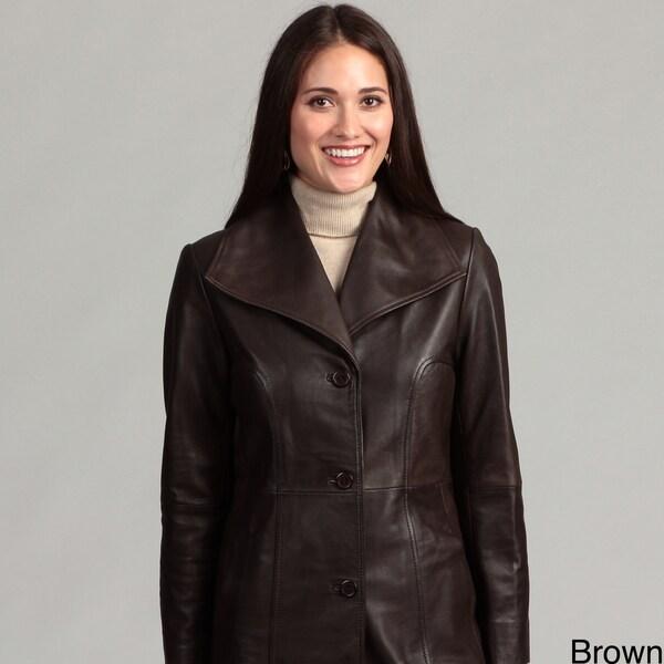 Collezione Women's Plus Leather Italia Walker Jacket