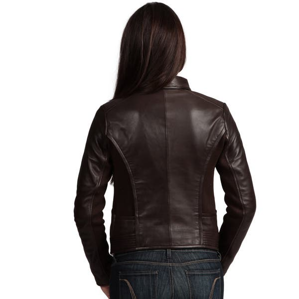 new products d0f2b 37348 Shop Collezione Italia Women's Leather Jacket - Free ...