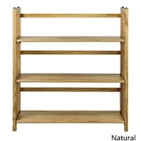 "3-Shelf Folding Stackable Bookcase 35"" Wide"