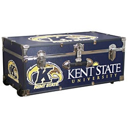 Kent State University 30 Inch Wheeled Foot Locker Trunk Free Shipping Today