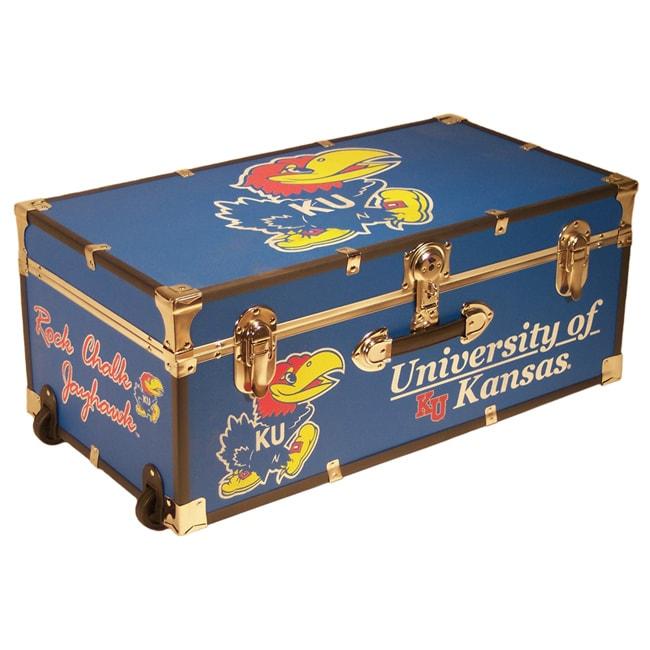 University of Kansas 30-inch Wheeled Foot Locker Trunk
