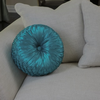 Round 14-inch Turquoise Pillow by Christopher Knight Home