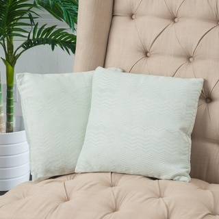 Christopher Knight Home Light Green Jacquard Pillows (Set of 2)