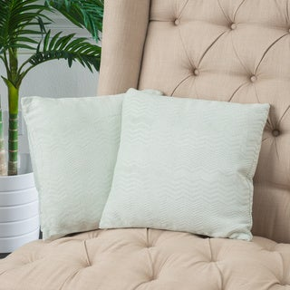 Light Green Jacquard Pillows (Set of 2) by Christopher Knight Home