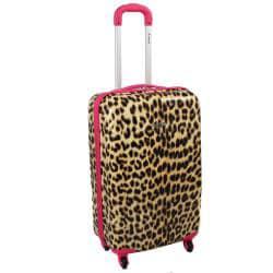 Rockland Designer Pink Leopard 3-piece Lightweight Hardside Spinner Luggage Set
