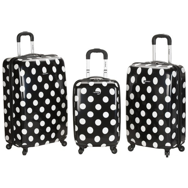 Rockland Designer Black Dot 3-piece Lightweight Hardside Spinner ...