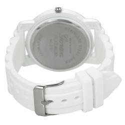 Geneva Platinum Neon Women's Rhinestone-Accented Silicone Watch - Thumbnail 1