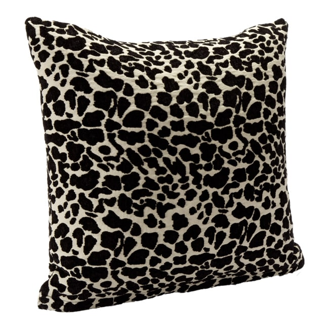 Black Animal Print Accent Pillow - Thumbnail 0