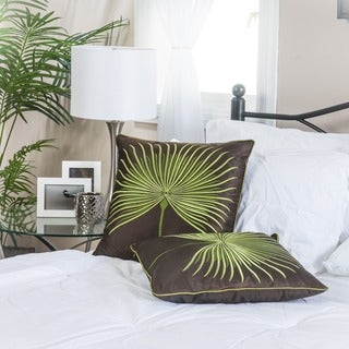 Light Green Embroidered Pillows (Set of 2) by Christopher Knight Home