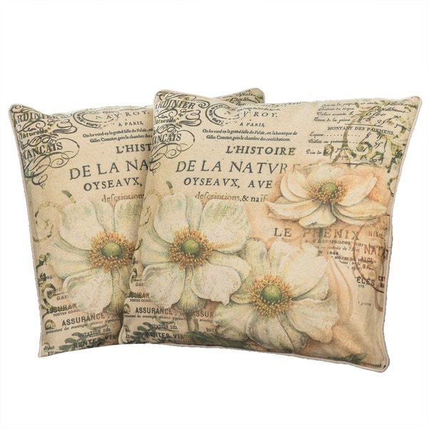 Flower Script Pillows (Set of 2) by Christopher Knight Home
