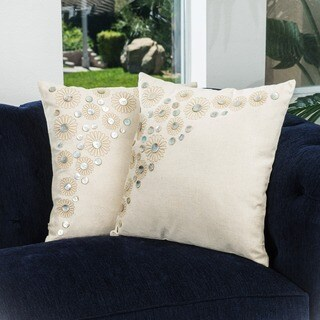 Embroidered Paillette Pillows (Set of 2) by Christopher Knight Home