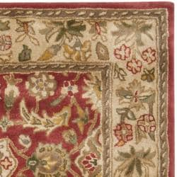Safavieh Handmade Cotton-Backed Persian Legend Red/Ivory Wool Rug (4' x 6') - Thumbnail 1
