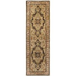 Safavieh Handmade Persian Legend Soft Green/ Ivory Wool Rug (2'6 x 10')