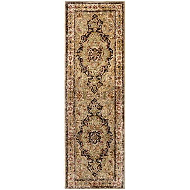 Safavieh Handmade Persian Legend Soft Green/ Ivory Wool Rug (2'6 x 12')