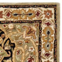 Safavieh Handmade Persian Legend Soft Green/ Ivory Wool Rug (2'6 x 12') - Thumbnail 1