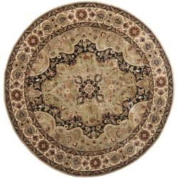 Safavieh Handmade Persian Legend Soft Green/ Ivory Wool Rug (6' Round)