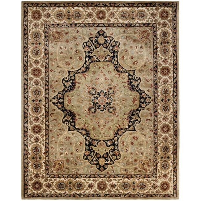Safavieh Handmade Persian Legend Soft Green/ Ivory Wool Rug - 7'6 x 9'6