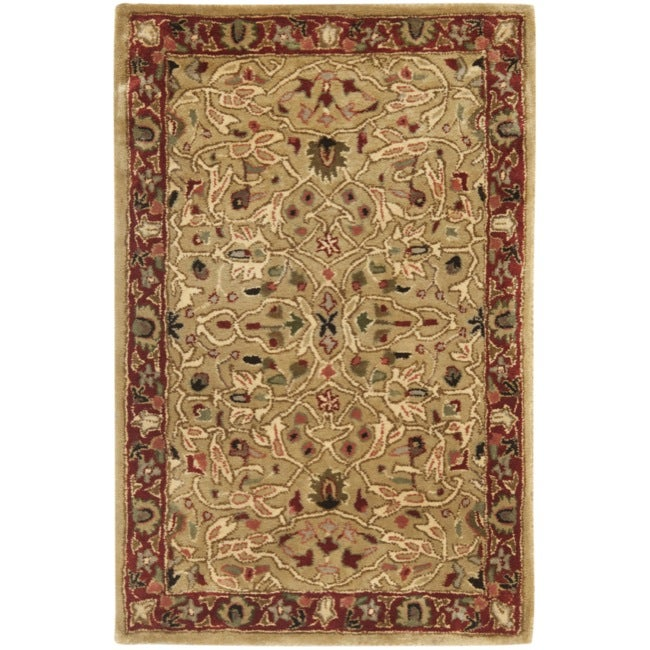 Safavieh Handmade Persian Legend Gold/ Rust Wool Rug - 2' x 3'