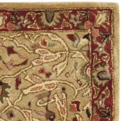 Safavieh Handmade Persian Legend Gold/ Rust Wool Rug (2' x 3') - Thumbnail 1